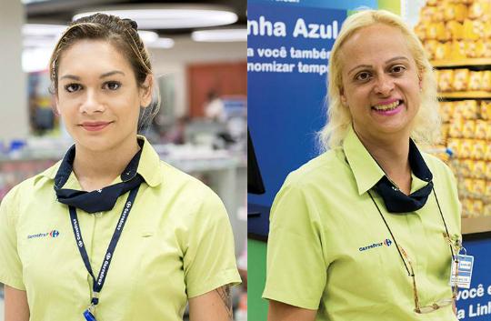 As colaboradoras Luana e Marcelle (D). Foto: Reprodução/Facebook